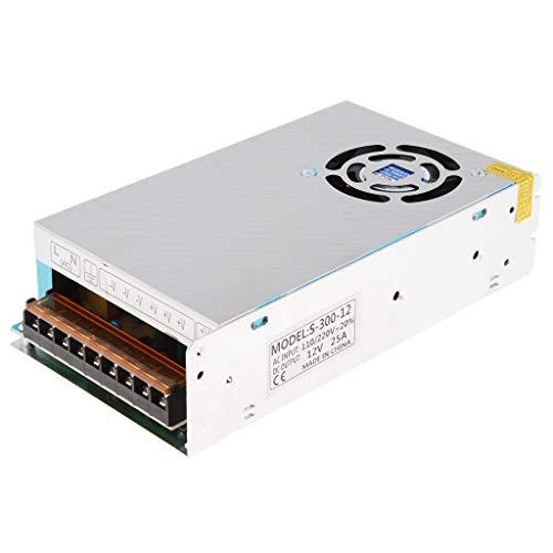 SM SunniMix AC 110V/220V to DC 12V LED Strip Light Switching Power Supply Transformer Converter 300W 25A ()