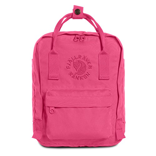 Fjallraven - Kanken, Re-Kanken Mini Recycled Backpack for Everyday Use, Heritage and Responsibility Since 1960, Pink Rose