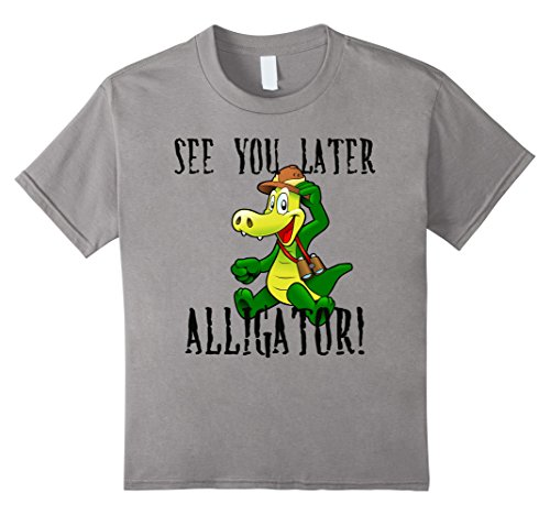Kids See You Later Alligator T-shirt Boys Girls Youth Child  10 (Alligator Youth T-shirt)
