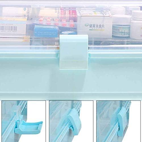 救急箱 薬箱 薬ケース 救急ボックス ファーストエイドボックス 応急ボックス 医学箱 小物入れ 薬入れ 薬収納 応急処置 医療用 緊急応急 応急手当 三段式 折りたたみ式 33*18*17.5cm 33*18*22.5cm