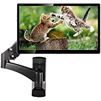 Tangkula Monitor Wall Mount Hydraulic Adjustable Articulating Extension for 32 To 42 Up To 51lbs TV Monitor Bracket