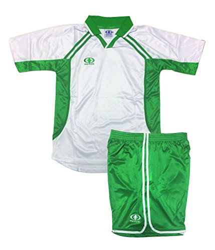 (Soccer Uniform for Teams, Adult X-Large White/Green (12 Sets Minimum Order))