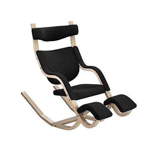 Varier Gravity Balans Zero-Gravity Kneeling Chair (Black Step Fabric with Natural Base)