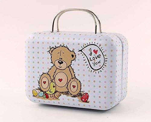 nanguawu 1:6 Scale Bear Doll Dollhouse Miniature Toy Trunk Box Suitcase Luggage Traveling Case from nanguawu