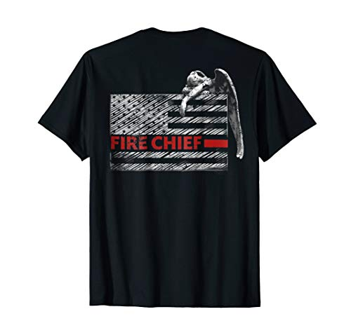 Fire Chief Shirt Angel Weeping T Shirt Thin Red Line Flag