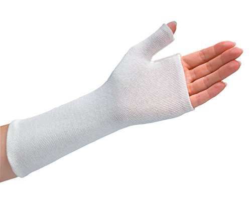 (Rolyan Thumb Spica Stockinette, Cotton Wrist Sleeve for Extra Comfort in Splints, Splint Fabrication Liner, Lightweight Wrap, Pack of 10 Size Medium Sleeves)