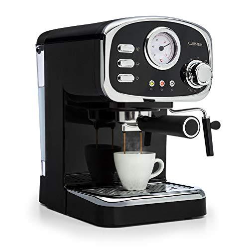 Klarstein Espressionata Gusto – Cafetera espresso, 1100 W de potencia, Presión de 15 bares, Depósito de agua de 1,25…
