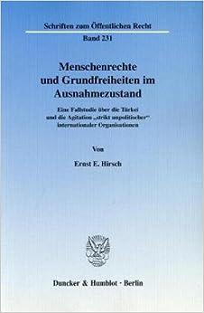 Book Menschenrechte und Grundfreiheiten im Ausnahmezustand.
