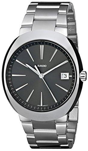 Rado Men's R15943113 D Star Analog Display Swiss Quartz Silver Watch (Rado D Star 200)