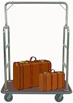 Equipaje carrito transportador Hotel coche maleta coche furgoneta Hotel necesidades plata cuadrado burdeos