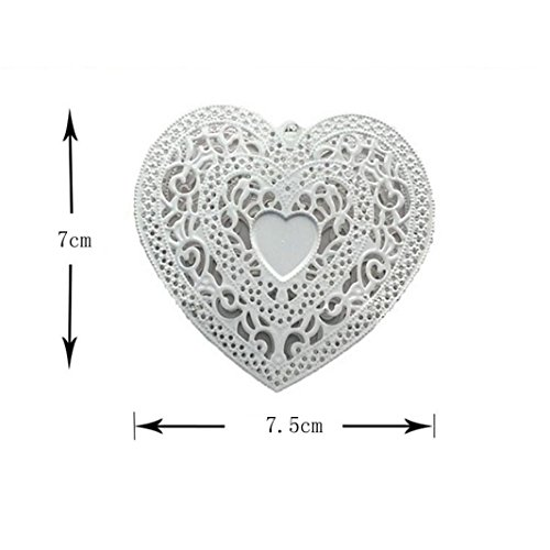 LED night Valentine's Day Decorated LED White Iron Heart-shaped Lamp String - Heart Decorated