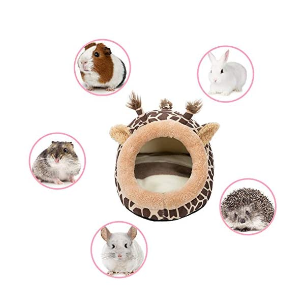 Hollypet Warm Small Pet Animals Bed Dutch Pig Hamster Cotton Nest Hedgehog Rat Chinchilla Guinea Habitat Mini House 7