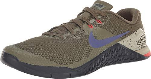 Nike Men's Metcon 4 Training Shoe Olive Canvas/Indigo Burst/Black Size 11 D - Olive Footwear Canvas