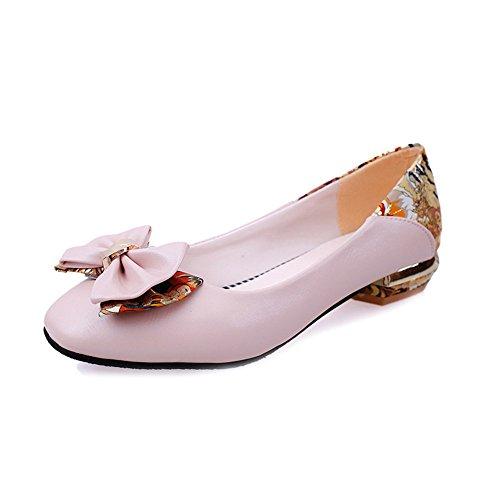 LIVY 2017 zapatos de primavera y verano arquean los zapatos grandes yardas femenino de los estudios zapatos zapatos casuales cabeza cuadrada cuatro estaciones Rosado