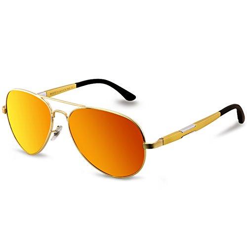hombre Duco Gafas para de Gold sol Mirror Red wZFZq84