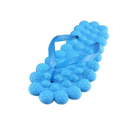 Pantofole Da Massaggio! Ama (tm) Donna Estate Schiuma Antiscivolo Infradito Pantofole Da Bagno Scarpe Da Spiaggia Blu