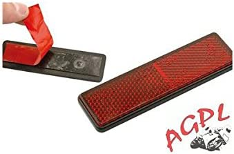 AGPL 449522 - Catadióptrico rojo (adhesivo), 91 x 25 mm, universal ...