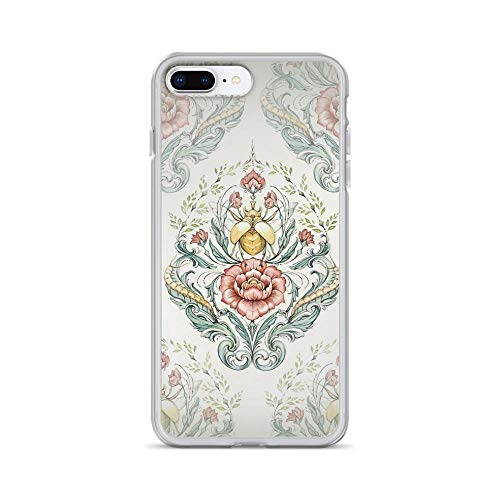 (iPhone 7 Plus/8 Plus Pure Clear Case Cases Cover Antique Pattern - Beetle and centipedes)