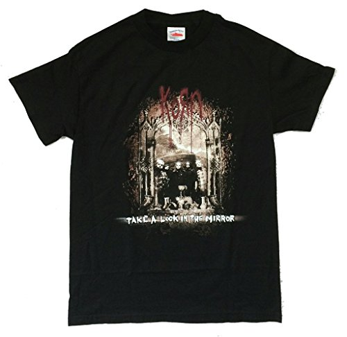 Korn Take A Look In The Mirror Band Pic Black T Shirt (S) (Korn Printed T-shirts)