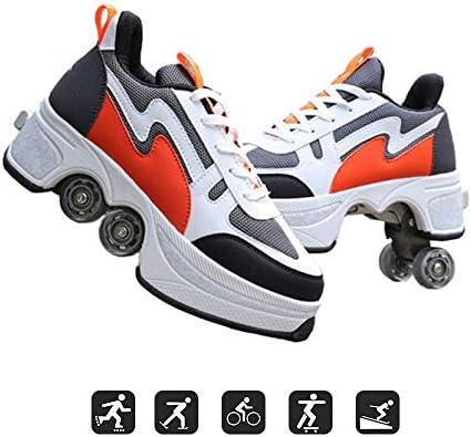 JFZS Kick Roller Zapatos con Ruedas Zapatillas con Ruedas Zapatos para Principiantes Unisex Regalo,Orange-EU43/UK9: Amazon.es: Hogar