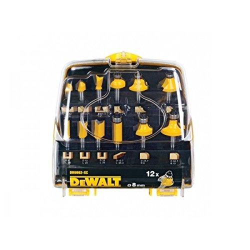 dewalt router bits. dewalt dr9992-xc 12-piece router bit set with 8 mm shaft dewalt bits b