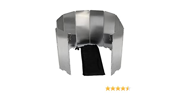 Mampara paravientos para hornillo SelfTek, 10 placas plegables ...