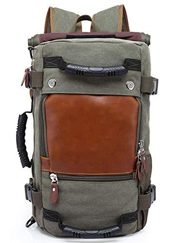 6d060727a3f9e ZJR Leinwand Rucksack Reisetasche Wandern Tasche Camping Tasche Rucksack  Große College School Computer Tasche Arbeitsrucksack für