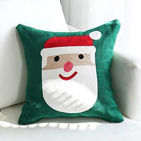 Image ofLLWYH Fundas De Cojín Decorativas Sofá De Navidad Bordado Decorado Funda De Almohada Cuadrada 45X45Cm (Sin Núcleo De Almohada) A