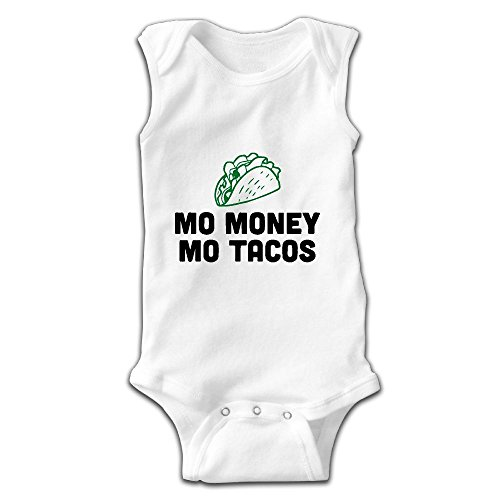 ant Baby Boys Girls Mo Money Mo Tacos Sleeveless Romper Jumpsuit Pajamas Outfit ()