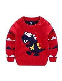 Srogem Baby Autumn Kids Boy Girls Dinosaur Cartoons Knit Sweater Outwear Pullover