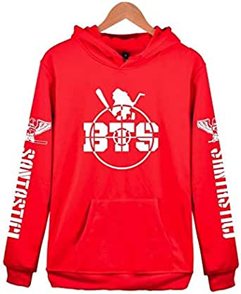 Women hoodie sweatshirt Clothing Hoody Sweatshirts BTS Cotton Black Red Grey Sweatshirts Women Long Sleeve Hoodies jacket