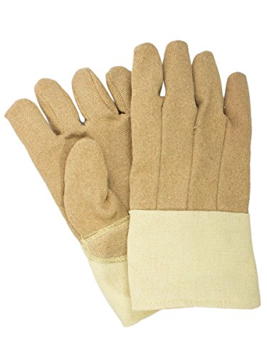 National Safety Apparel G51PCLW13714 PBI/Kevlar Glove with Thermobest Cuff, 45 oz., Large, Yellow by National Safety Apparel Inc