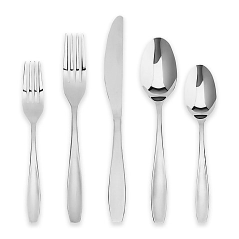 Cambridge Silversmiths Nicoletta Mirror 65-Piece Flatware Set
