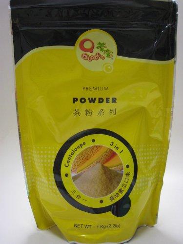 """Qbubble Cantaloupe Flavor """"3 in 1"""" Bubble Tea Powder - 2.2 Lb"""