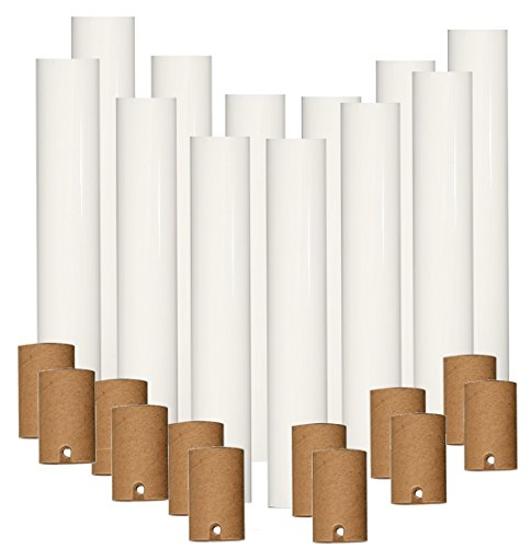 Set of 12 pc 6 Inch Tall White Candelabra Base Thin 3/4