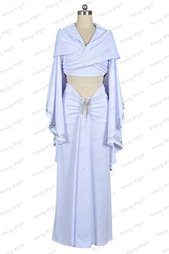 Star Wars Padm¨¦ Amidala Dress Cosplay Costume White -