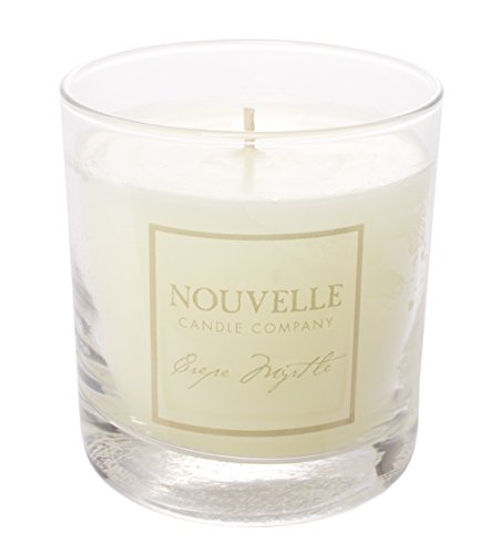 Nouvelle Crepe Myrtle 11oz Glass Candle - Nouvelle Candle's BEST SELLING fragrance! Narcotic in its allure, a landmark in southern landscapes for centuries This unique intermingling of white honeysuckle, light citrus, and exotic green wood is truly captivating - living-room-decor, living-room, candles - 41Biv6ZwsJL -