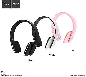 Hoco Premium Bluetooth Auriculares W9 en negro para HTC Desire 10 Pro HF de graves on