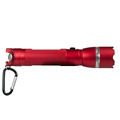 Life Gear 250 Lumen CREE LED Searchlight Flashlight Powerful Emergency Signaling Rescue Beacon Light, Waterproof Impact Resistant, Camping, Hiking, Hunting, Backpacking, Batteries Included