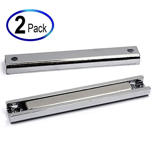 - 65 Pound Neodymium Channel Magnets 3 1/4 x 1/2 x 1/4