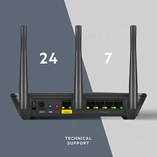 Linksys Dual-Band WiFi Router for Home (Max-Stream AC1900 MU-Mimo Fast Wireless Router) (EA7500-4B)