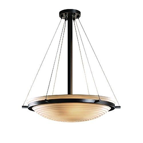 Justice Design Group Lighting PNA-9692-35-SAWT-MBLK-LED5-5000 Porcelina-Ring 27