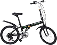 Leisure 20in 7 Speed City Folding Mini Compact Bike Bicycle Urban Commuter Lightweight and More Durable,Gift