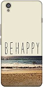 Snoogg Be Happy Designer Protective Back Case Cover For One Plus X [Electrónica]