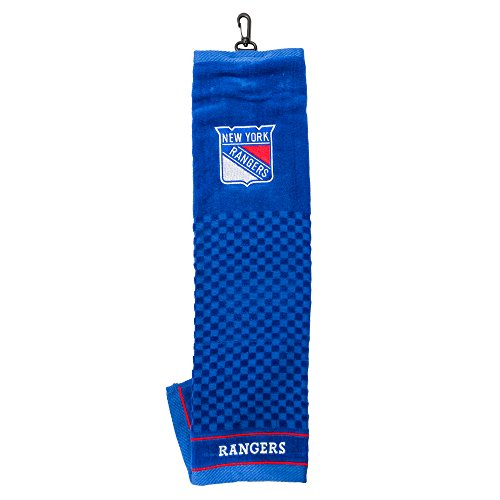 Team Golf NHL New York Rangers Embroidered Golf Towel, Checkered Scrubber Design, Embroidered Logo ()