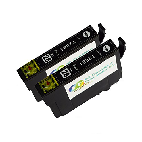 OGOUGUAN 288XL Ink Cartridges Remanufactured for Epson 288 288XL for use in Epson Expression XP-330 XP-340 XP-430 XP-434 XP-440 XP-446 Printers (2BK) by OGOUGUAN