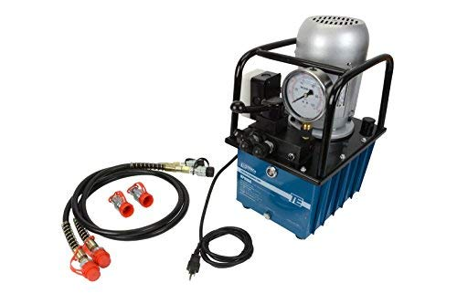 TEMCo HP0004 - Electric Hydraulic Pump Power Pack Unit 2 Stage Double Acting 120v 10k psi 488 cubic in Capacity - 5 YEAR Warranty