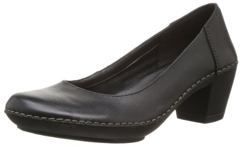 donna stringate Nero Clarks Emerson Jazz Leather Black Schwarz Scarpe Bq4ZO