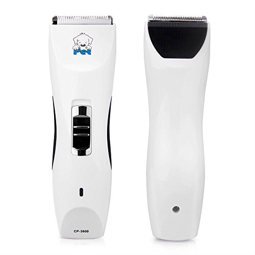 Pro 3800 Light (PepPet Professional Animal Clipper Home Pet Grooming Kit White CP-3800)
