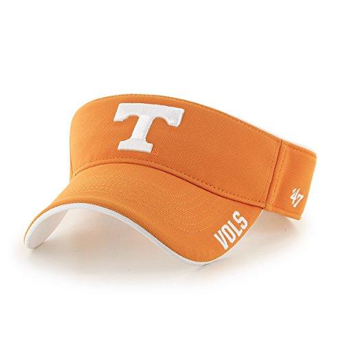 ('47 NCAA Tennessee Volunteers Top Rope Adjustable Visor, One Size Fits Most, Vibrant Orange)